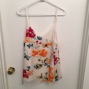 Carmen Marc Valvo top with floral embellishment